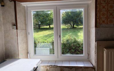 Pose de fenêtres à Schirmeck